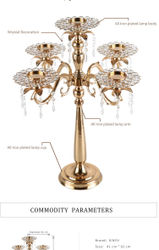 Continental retro five candlestick creative wedding candlelight dinner set props christmas decorations rustic home deco