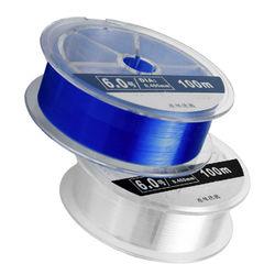 LINNHUE Nylon 100M Main Strands Strong Pull Force Herring Sturgeon Blue Line Monofilament Fishing Line 21-77LB SaltWater Fresh