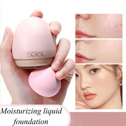 Face Foundation Base With Beauty Egg Matte Moisturize Oil Control Concealer Full Coverage Liquid Foundation Cream Cosmetics