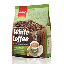 Malaysia imports SUPER Super Ipoch Charcoal Roasted Fruit White Coffee 3 in 1.