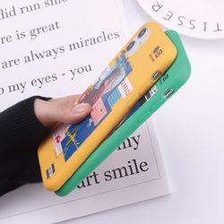 European Art Style Simple Letters For iPhone 12 11 Pro X XS XR 7 8 7Plus 8Plus SE Soft Candy Case Fundas