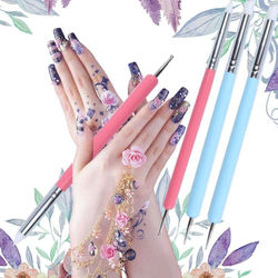 5pcs UV Gel Acrylic Nail Art Brush Tool Set Nail Brushes Design Painting Pencil Pen Decoration Drawing Nail For Manicure H3X0