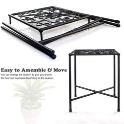 2pcs Metal Plant Stand Black Modern Plant Stand Plant Display Potted Rack Plant Holders Plant Rack Plant Stand for Garden Plant
