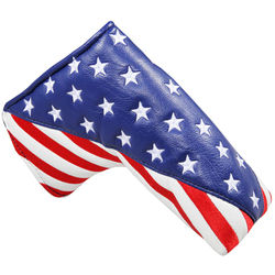 Golf Stars and Stripes Golf Putter Club Head Cover Headcover for Blade Putter