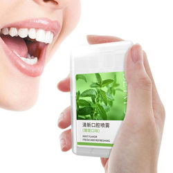 20ml Mouth Breath Freshener Spray Peach Mint Flavor Spray Mouth Bad Treatment Care Oral Refresher S8G7