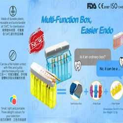 Dental Endodontic Files Sterilization Box Autoclavable Multi Function Endo Files Organizer Measurement Box for Endodontic Files
