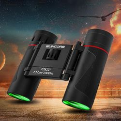 10x22 Powerful Folding Binoculars for Bird Watching Outdoor Hiking Sightseeing BAK4 FMC Lens