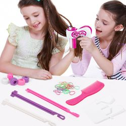 Three Twist Salon Electric Braid Tool Smart Girls Children Battery Powered Hairdressing Decor Automatic Braiding Quick Kids Gift