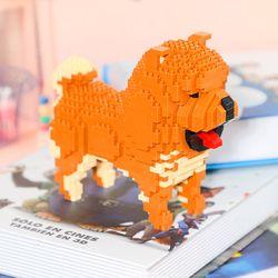 Balody Dog Chowdren Animal Pet Cartoon Chow Chow 3D Model Building Blocks Kit DIY Mini Diamond Bricks Magic Toys for Kids Boys