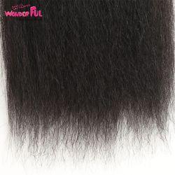 "WA...WONDERFUL Yaki Straight 10""-30"" M Brazilian Remy Hair Nature Color Yaki Straight Hair Bundles Yaki Human Hair 3 4 Bundles"