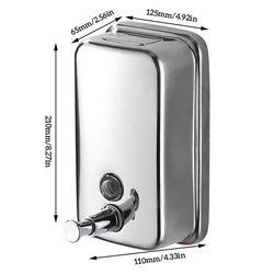 Wall Mounted Soap Dispenser Stainless Steel Bathroom Shampoo Lotion Pump Liquid Dispenser Kitchen Bathroom Soap Dispenser