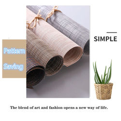 1PC Placemats,Washable Easy To Clean Woven Vinyl Kitchen Placemats for Dining Table Table Mat Table Decoration Accessories