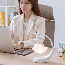 Bluetooth Music Night Light Cute Birds Lamp with Touching Sensor Rechargeable Color Changing for Children Bedroom DQ-Dro