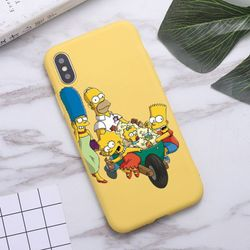 Homer J Simpson funny Bart Simpson Phone Case for iPhone 11 Pro Max X XR XS 8 7 6s Plus Candy yellow Silicone Cases