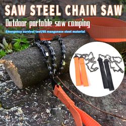 Hacksaw String Hand Portable Outdoor Survival Chain Saw Foldable Mountaineering Gear Handle 24 Inch Pocket Tool Camping