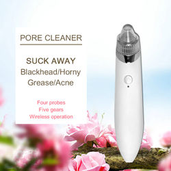 Electric Blackhead Cleaner USB Rechargeable Facial Pores Beauty Instrument Eliminates Wrinkles Dirt Simple Acne Vacuum Remover