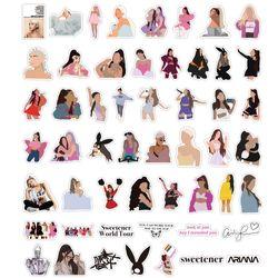 10/30/50PCS Singer Ariana Grande Stickers Laptop Guitar Luggage Skateboard Phone Bike Car Waterproof Cool Sticker Decal Kid Toys