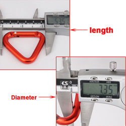 1pc Triangle Carabiner Outdoor Camping Hiking Keychain Snap Clip Hook Kettle Buckle Carabiner Accessories