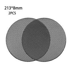 2Pcs Speaker Conversion Net Cover Car Audio- Decorative Circle Metal Mesh Grille