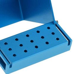 50g Dental Bur Burs Holder Block Disinfection Box Case Bur Tool Burs Holder Holes Block Autoclavable With 30 H9T0
