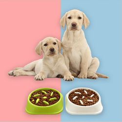 Pet Dog Feeding Food Bowls Puppy Slow Down Eating Feeder Healthy Water Dish Anti Slip Bowl Prevent Obesity Dogs Supplies