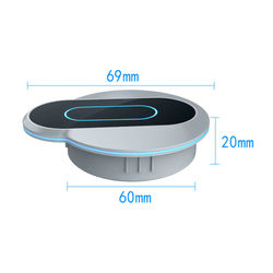 Built-in Embedded Wireless Charging Pad For iPhone 11 Samsung S20 S10 Charger Induction Recessed CordlessContactless Backlight