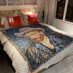 Van GoghCasual Blankets Carpet Decoration Carpet Sofa Leisure Carpet Single Tapestry Sofa Blanket Throw Blankets