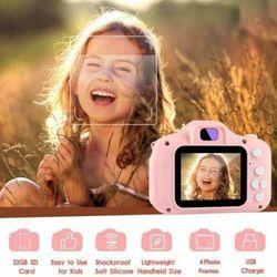 Kids Camera, Digital Camera for Kids 2.0 Inches IPS Sn HD Kids Video Camera Children Toy Camera Recorder (Blue+Pink)