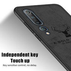 Cloth Fabric Deer Case For Xiaomi Mi 10T Lite Pro 5G mi 10t mi 10 Phone Cases For Xiaomi Mi 10 Ultra Mi 10 Pro Lite mi10 t cover