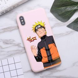 Anime Naruto Itachi Kakashi Phone Case for iPhone 11 Pro Max X XR XS 8 7 6s Plus Matte Candy Pink Silicone Cases