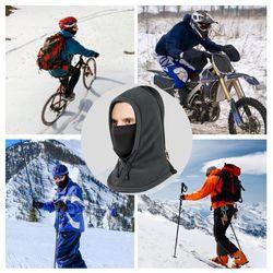 WEST BIKING Winter Balaclava Thermal Fleece Hood Hat Ski Biking Soft Headwear Outdoor Sports Face Covers Mask Neck Warmer Snood