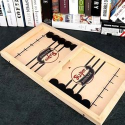 Head-to-Head Wooden Desktop Hockey Table Game for Kids and Adults Portable Hocke