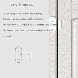 Tuya WIFI Door and Window Sensor Door netic Smart Home Remote Home Anti-Theft Door and Window Isolation Alarm