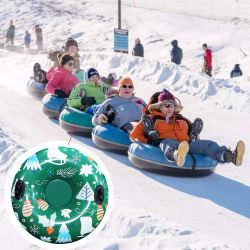 Inflatable Ski Circle Skiing Snow Tube Sleigh Tubing Cheesecake Winter Children Adult Ski Ring Skiing Thickened Floated Sled