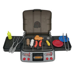 Kitchen Pretend Play Toys Simulation Electric BBQ Grill Sausage Wing Tomato Sauce Cooking Machine Kids Children Dolls Toy
