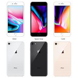 "Apple iPhone 8 Original GSM Unlocked iOS Hexa-Core A11 Bionic 2GB RAM 64/256GB ROM 4.7"" 12.0 MP Fingerprint Cell Phones"