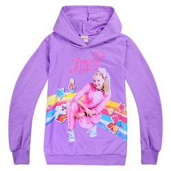 New Tops Girls T-Shirt Children's Clothes Spring and Autumn Cartoon JOJO Siwa Print Children's Hoodie T-Shirt Girls Cotton Tees