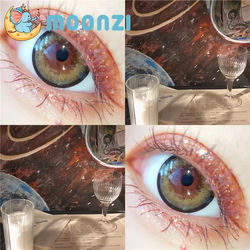 MOONZI brown black circle contact lens BIG Beautiful Pupil Colorful Contact Lenses for eyes yearly 2pcs/pair Myopia prescription