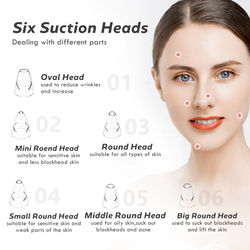 Blackhead Remover Face Deep Nose Cleaner Vacuum Skin Care Acne Pore Cleaner Pimple Removal Vacuum Suction Facial Tools