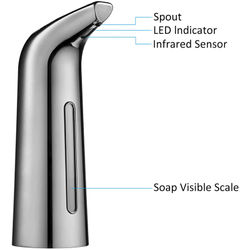 Automatic Soap Dispenser, Pressless Soap Dispenser, 400Ml Liquid Hands-Free Infrared Sensor Electric Auto Soap Dispenser