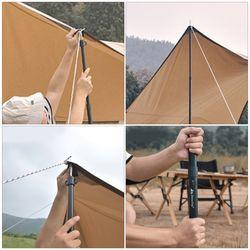 1 Set Tent Support Pole Telescopic Tarp Pole Portable Outdoor Tent Rack