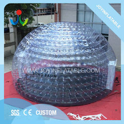 Dia 8M Outdoor Bubble Igloo Inflatable Event Camping Tent Transparent for Hotel