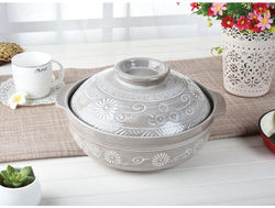 Japanese household ceramic pot casserole pot soil stone earthenware cooking pot marmite rice soup stew fire at high temperature