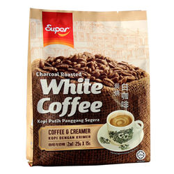 Free shipping 375g/bag Malaysia imported super super Ipoh 2 in 1 charcoal roasted white coffee super rich and mellow