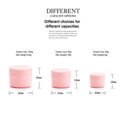 DHL Fast Shipping 20/30/100g PP Empty Round Containers Capacity Cosmetics Box Face Cream Storage Case Storage Boxes Pill box jar