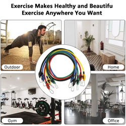 11pcs Bands Resistance Bands Set Fitness Resistance Gym Equipment Exercise Bands Pull Rope Fitness Elastic Training Expander