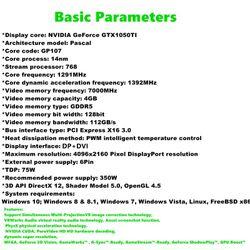 Maxsun GTX1050TI Transformers 4G Graphics Card Nvidia GDDR5 128bit GPU Video Gaming Video Card For PC Computer DP DVI