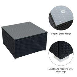 9 Piece Patio Set Furniture Wicker Rattan Conversation Sectional Sofa Sets Outdoor Furniture