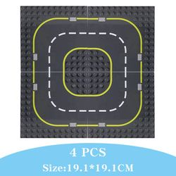 Children Gift Highway Road baseplate With series City Street Base Plate big Building Blocks Assembled Educational Toys