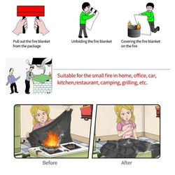 Fireproof blanket Heat insulation pad Outdoor camping barbecue protective cloth High temperature resistant stove mat